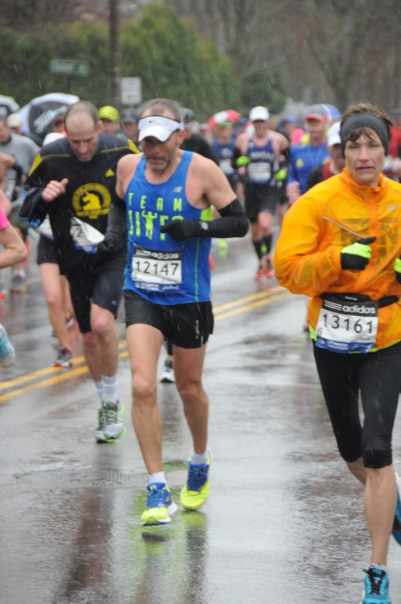 This is me kicking Heartbreak squarely in the buttocks. Just an interesting aside: I looked up bib#13161. This lady, Sarah Strunk, is from the same state as I am, is the same age as me, and, get this, ran the exact same time on this day! Crazy!